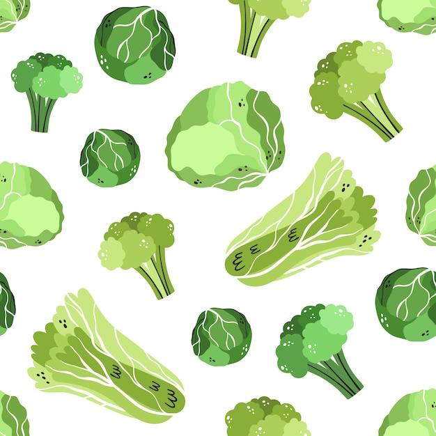 Cabbage pattern Premium Vector