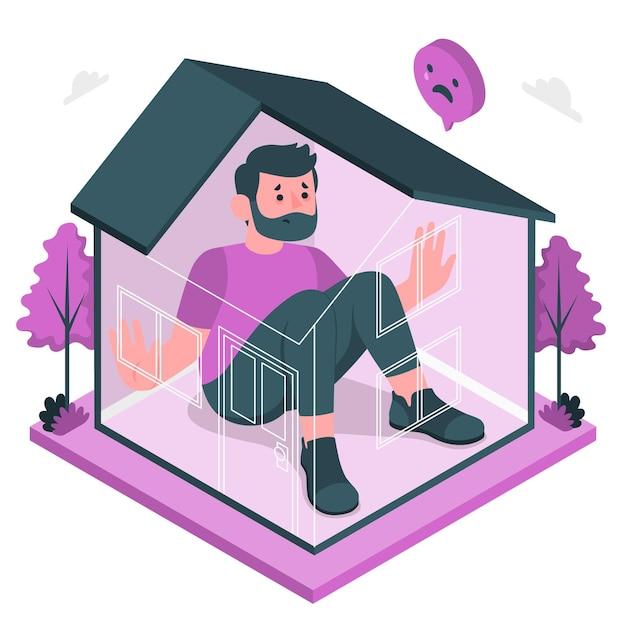 Illustrazione di concetto di febbre di cabina Vettore gratuito