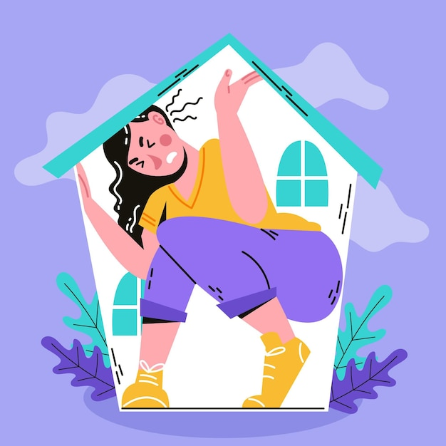Download This Free Vector Cabin Fever Illustrated