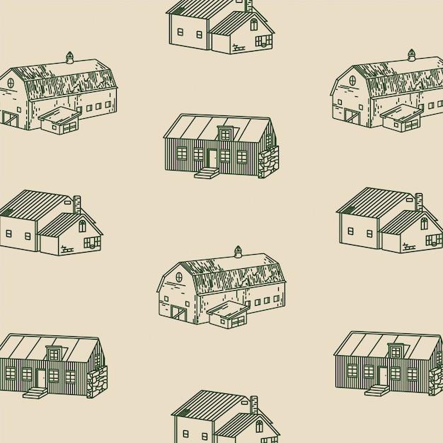 The cabin illustrations Premium Vector