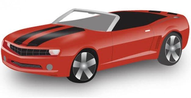 cabriolet vector Free Vector