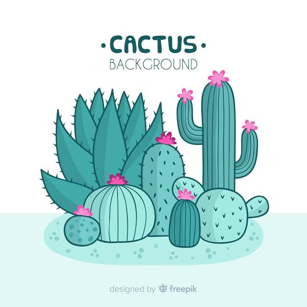 Cactus background Free Vector