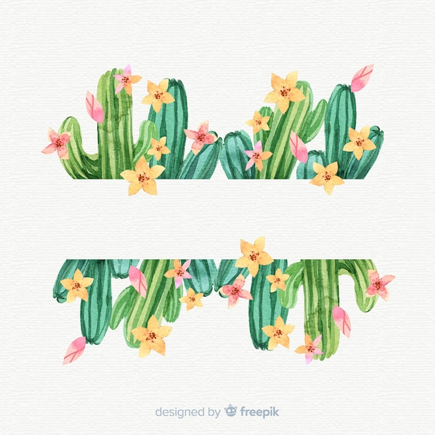 Cactus banner template Free Vector