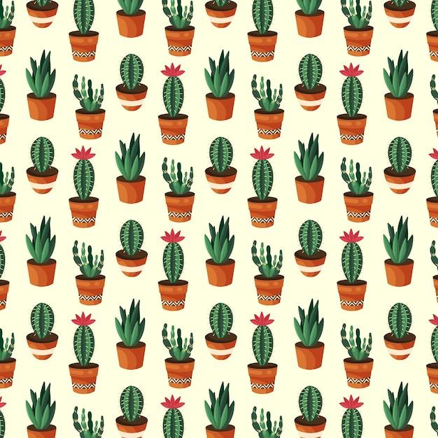 Концепция коллекции шаблонов кактус Бесплатные векторы