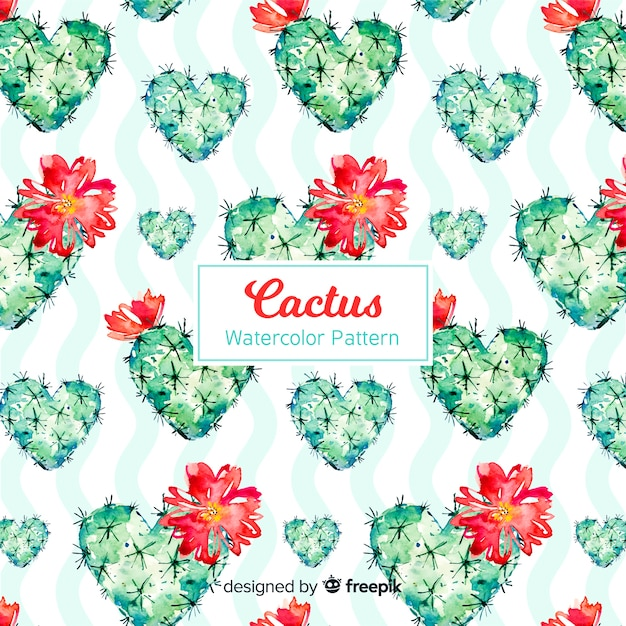Cactus pattern collection Free Vector
