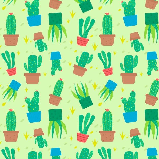 Concetto di modello di cactus Vettore gratuito