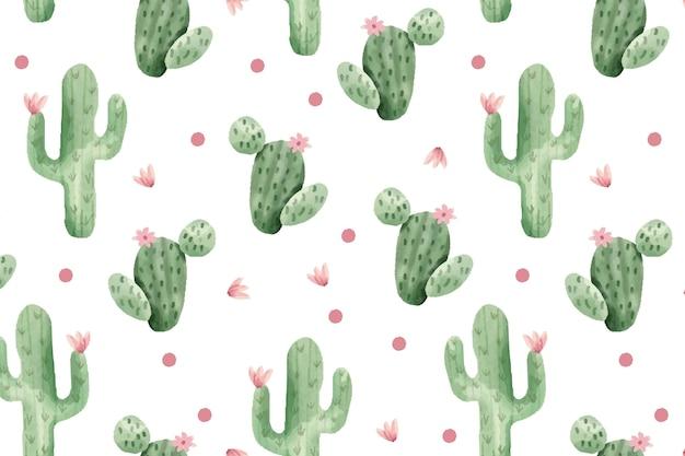 Cactus pattern concept Premium Vector