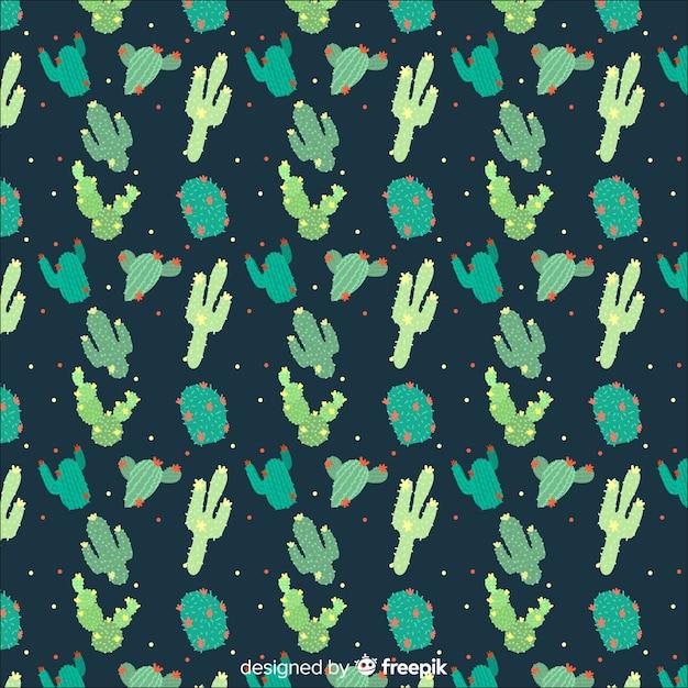 Cactus pattern Free Vector