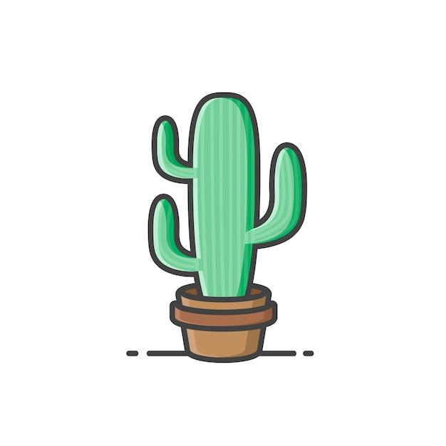 Cactus, plant icon Premium Vector