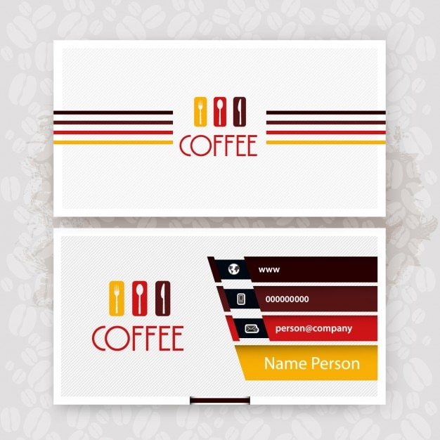 Cafe business card Free Vector