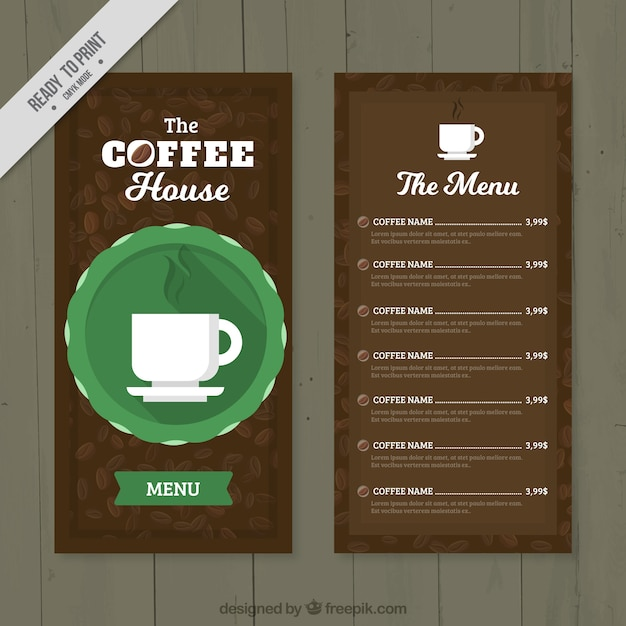 Cafe menu in retro style Free Vector