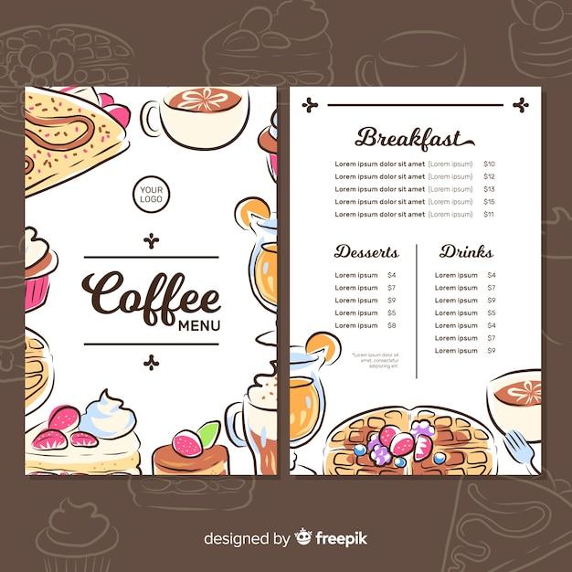 Cafeteria menu Free Vector
