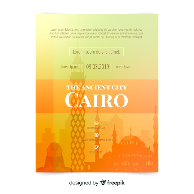 Cairo flyer template Free Vector