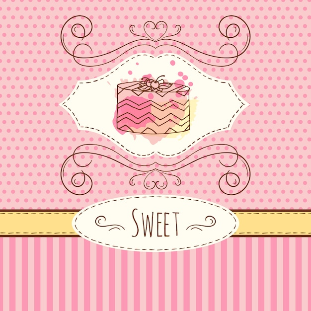 Cake Background Design Free Vector