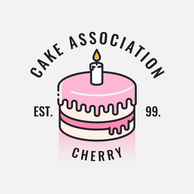 cake logo design vector premium download