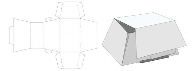 Cake packaging box die cut template Premium Vector