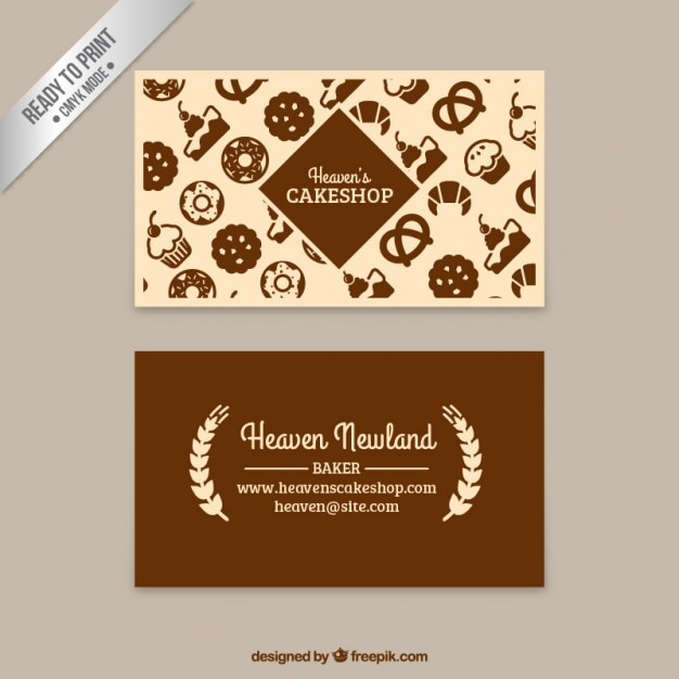 Cake shop business card vector free download cake shop business card free vector reheart Images