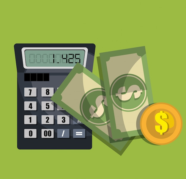 Calculating costs Free Vector