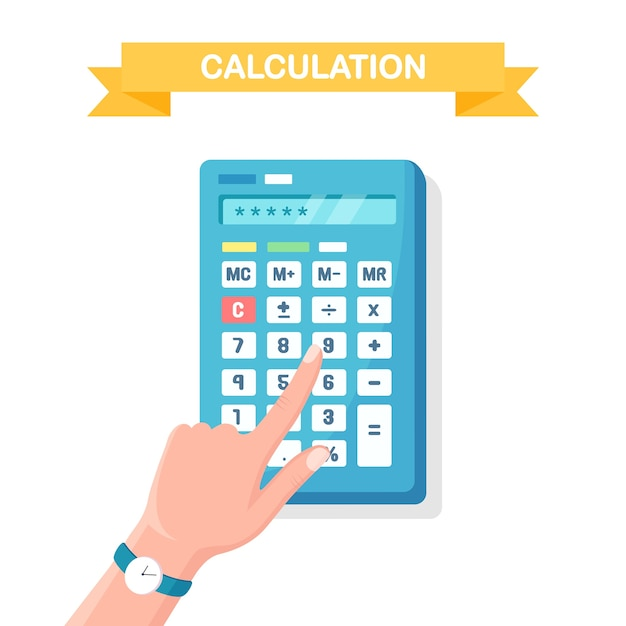 Расчет, концепция бухгалтерского учета Premium векторы