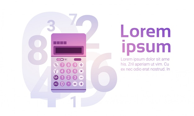 Calculator banking accountant finance business Premium Vector