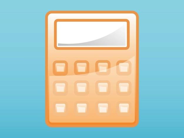 Calculator buttons shiny screen vector Vector | Free Download