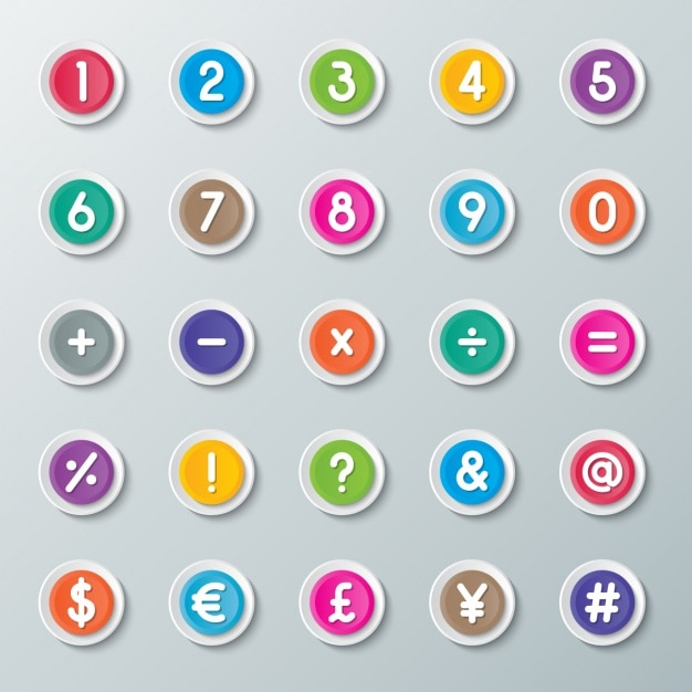 Calculator buttons Free Vector