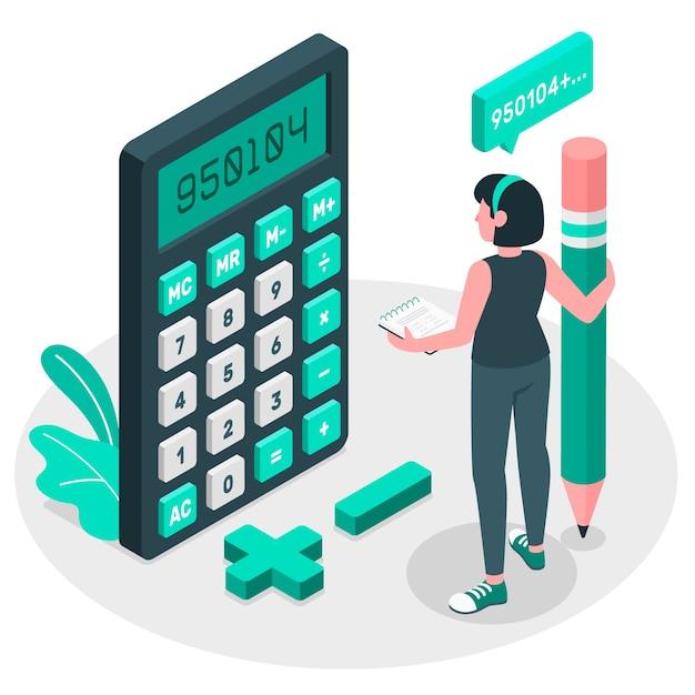 Calculator concept illustration Free Vector