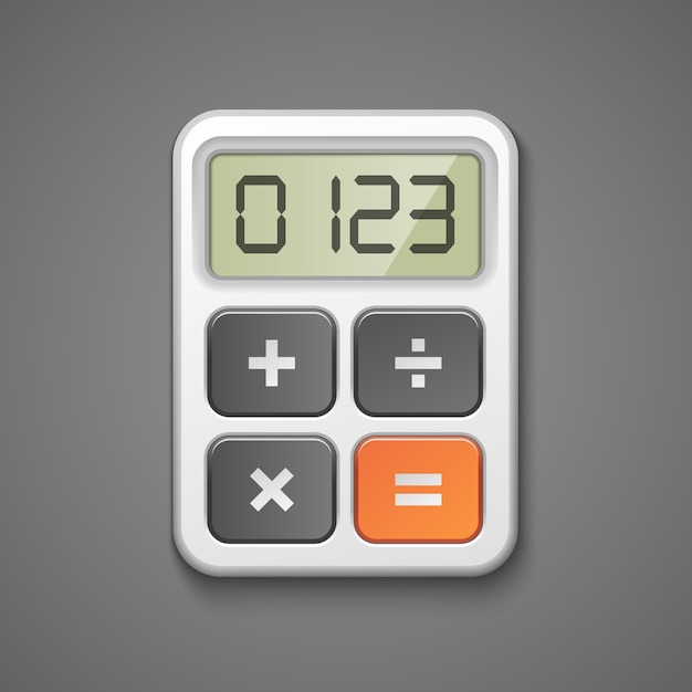 Calculator icon Free Vector