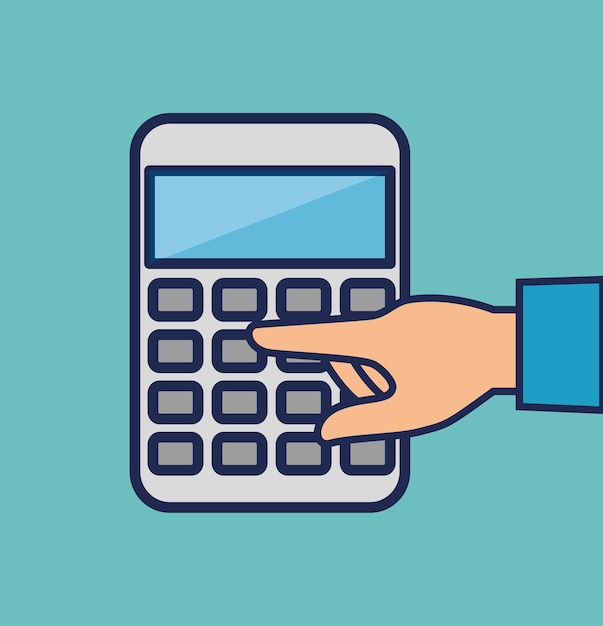 Calculator math isolated icon Vector | Premium Download