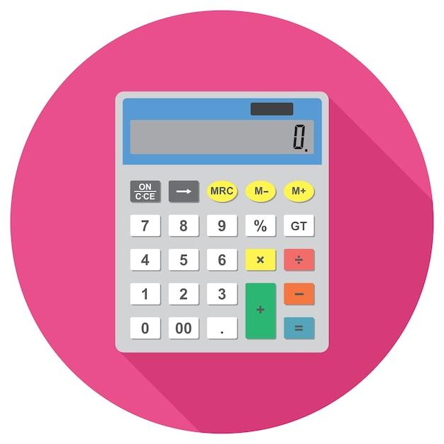 Calculator vector icon Vector | Premium Download