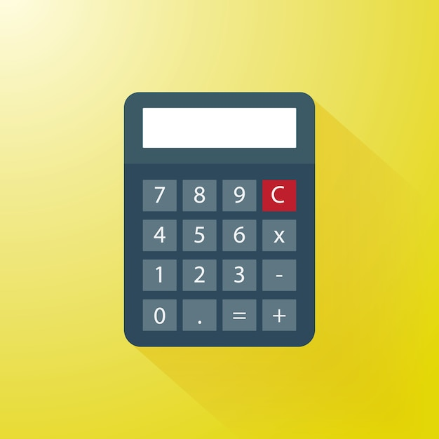 Calculator with modern flat style Vector | Premium Download