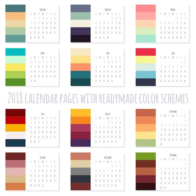 2018 Color Schemes My Blog