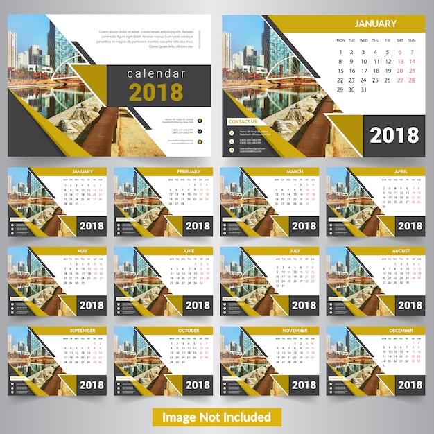 Calendar 2018 Premium Vector