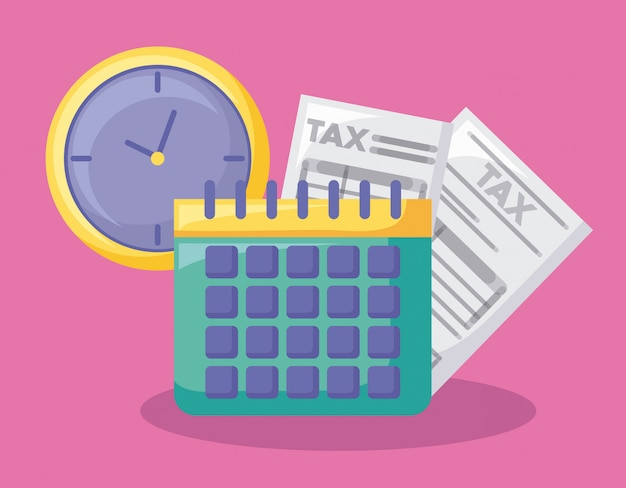 Calendar with economy and financial Premium Vector