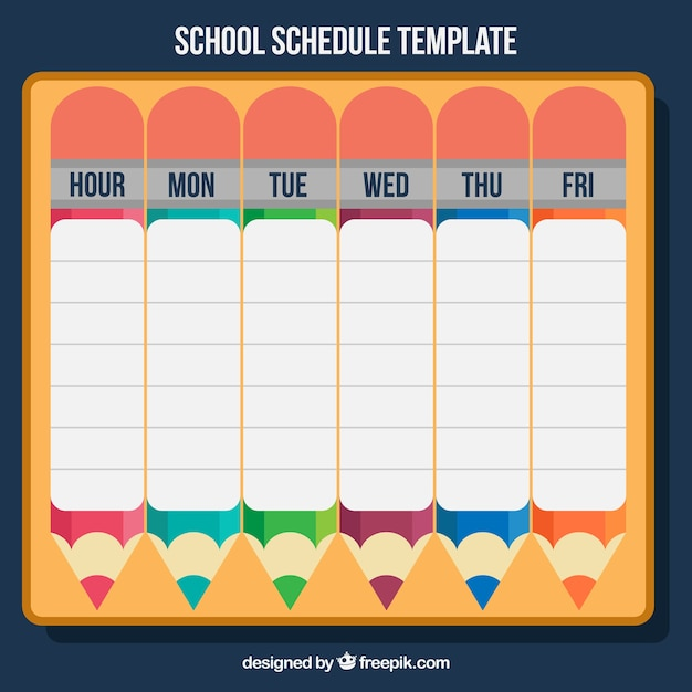 Calendar with pencils for back to school Vector | Free ...