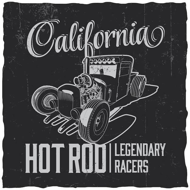 California legendary racers label Free Vector