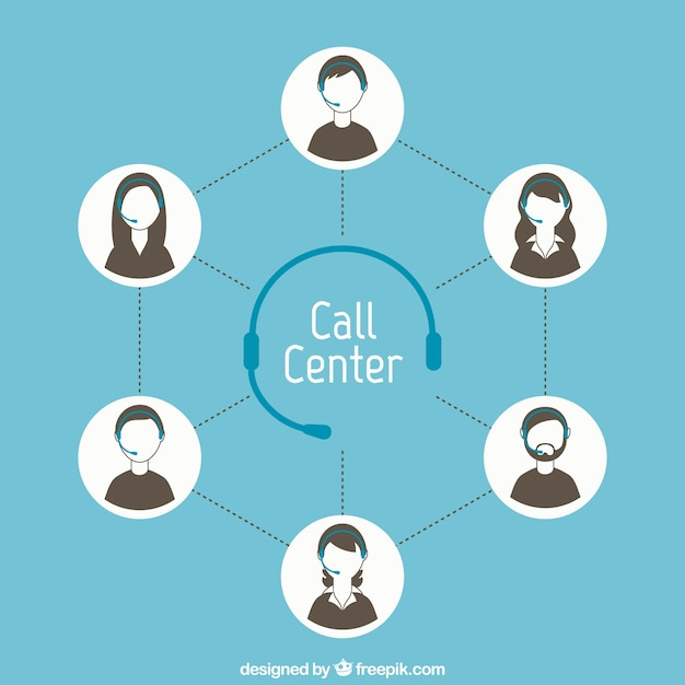 Call center concept Free Vector