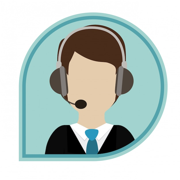 Call center design Premium Vector