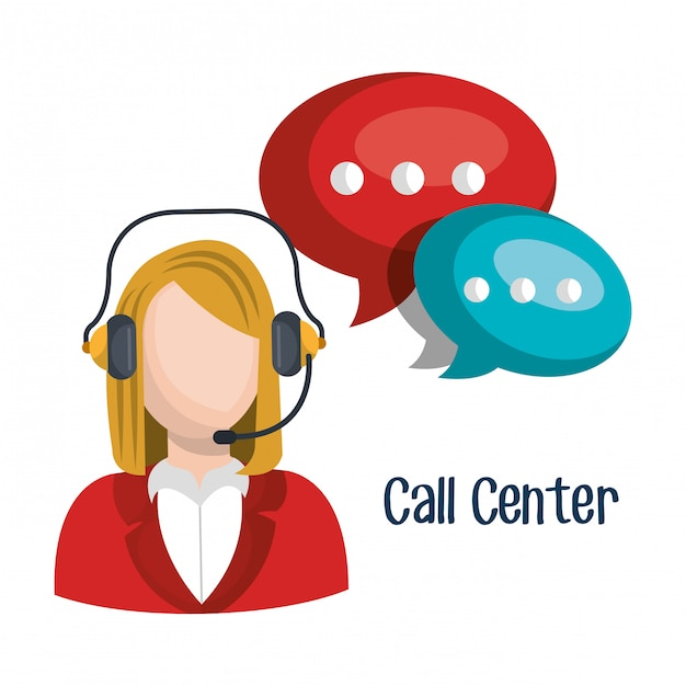 Call center Free Vector