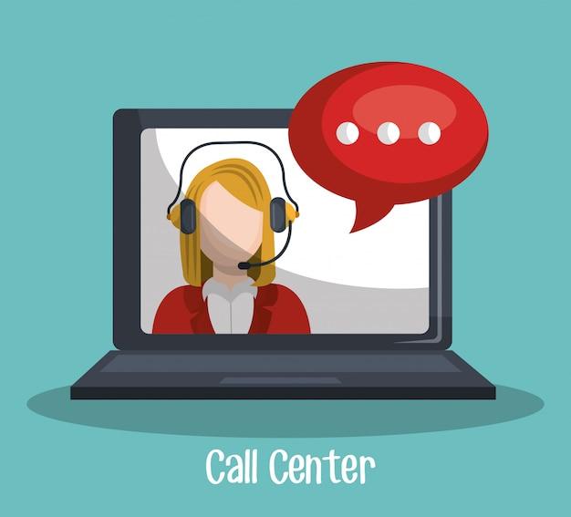Call center Free Vector