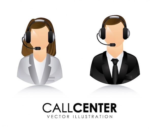 Call center Premium Vector