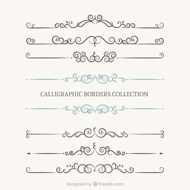 how to draw border calligraphy