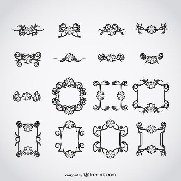Calligraphic classic vectors vector free download