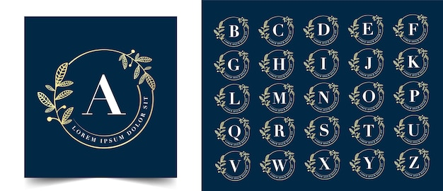 Calligraphic feminine floral beauty logo hand drawn heraldic monogram antique vintage style luxury design suitable for hotel restaurant cafe coffee shop spa beauty salon luxury boutique cosmetic Premium Vector
