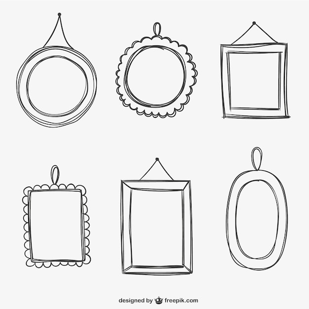 Calligraphic frames pack vector free download