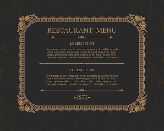 書道メニューレストラン活版印刷のデザイン要素、書道のテンプレート。 Premiumベクター