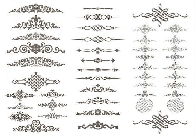 Calligraphic and ornament design Premium Vector