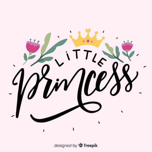 Calligraphic pink princess background Free Vector