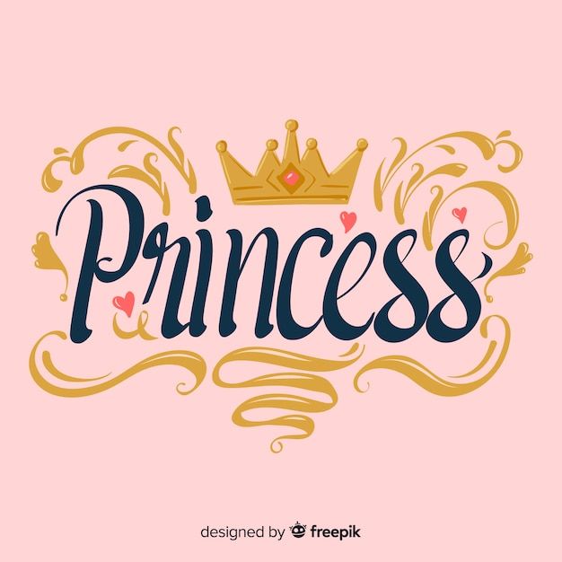 Calligraphic princess background Free Vector