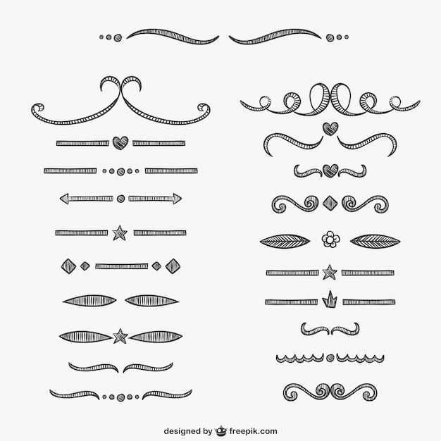 Calligraphic separators vector free download